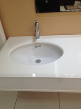 Solid surface hand washing zinc washing basin