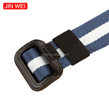 Hot Sale Fashion New Woven Nylon Waist Strap Belts Unisex Outdoor Military Buckle Striped Braided Nylon Betls
