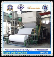 China Professional Small Waste Paper Recycling sanitary toilet and napkin tissue paper making machine