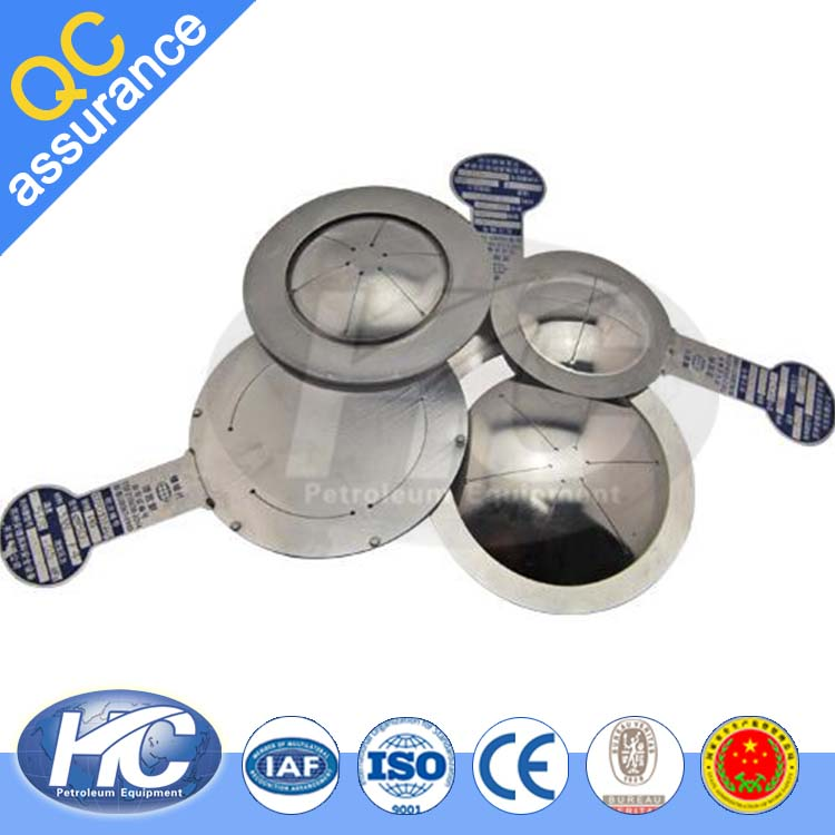 Stainless steel explosion membrane / duplex rupture disk / burst disc for release pressure