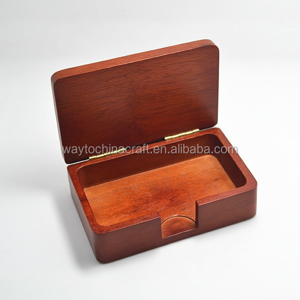 Elegant real wood Office Business Card Holder