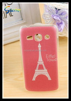 tower pattern clear pc snap on case for cell phone