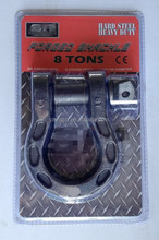 bow shackle 8T-10T tough steel forged cast bow shackle great pulling capacity