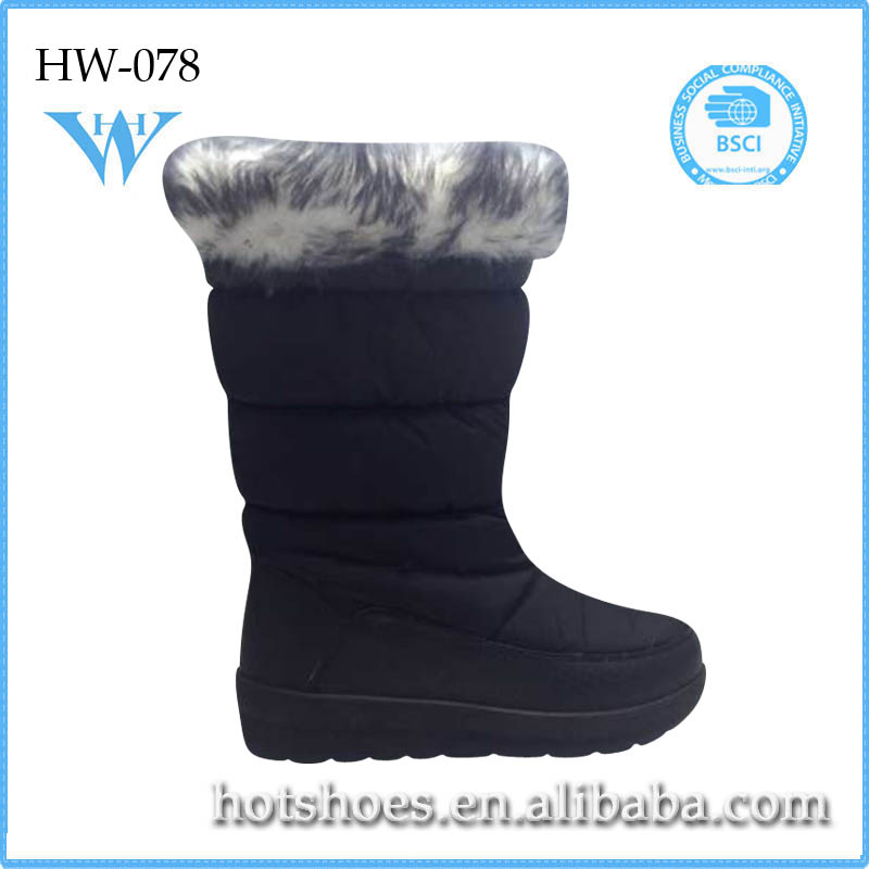 Russian high quality pumps shoes keep warm fur boots