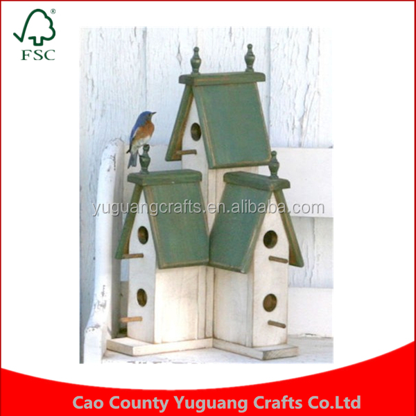 Custom Manufacture Eastern White Pine Small Condo Birdhouse wrens chickadees decorative Bird House Cages
