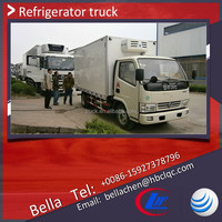 4000kg meat transport refrigerated truck body, DFAC light freezer trucks sale