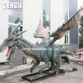 Outdoor Amusement Park High Simulation Animatronic Dragon