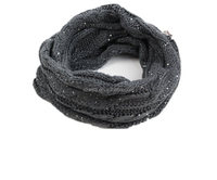 Ladies winter knitted sequin infinity scarf