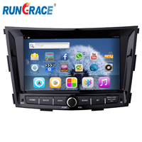 wholesale 2 din ssangyong auto radio car dvd Tivoli android car radio with sim card