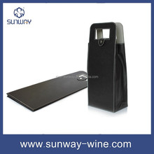 Eco-friendly PU leather red wine bag manufacturer