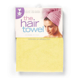 Wholesale cheap super water absorption microfiber hair drying cap head hair towel for women