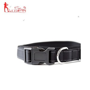 Wholesale premium soft and reflective dog collar nylon webbing dog collar suitable for all pet dogs