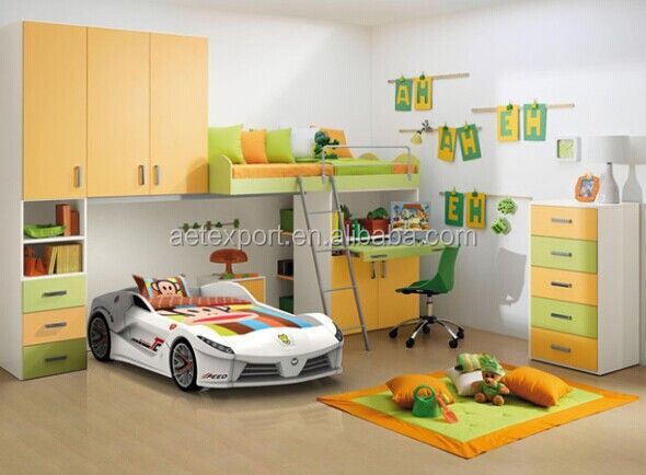 Smart design Adult Sized Car Bed With Media Function Kids Race Car Bed TC200 for boy