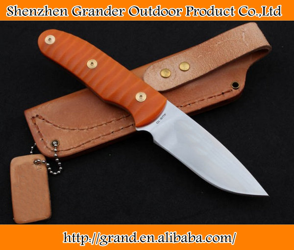 AUS-10 Steel <strong>good</strong> quality tactical knife <strong>G10</strong> Handle Camping hunting rescue survival cutter knife DREAM5169