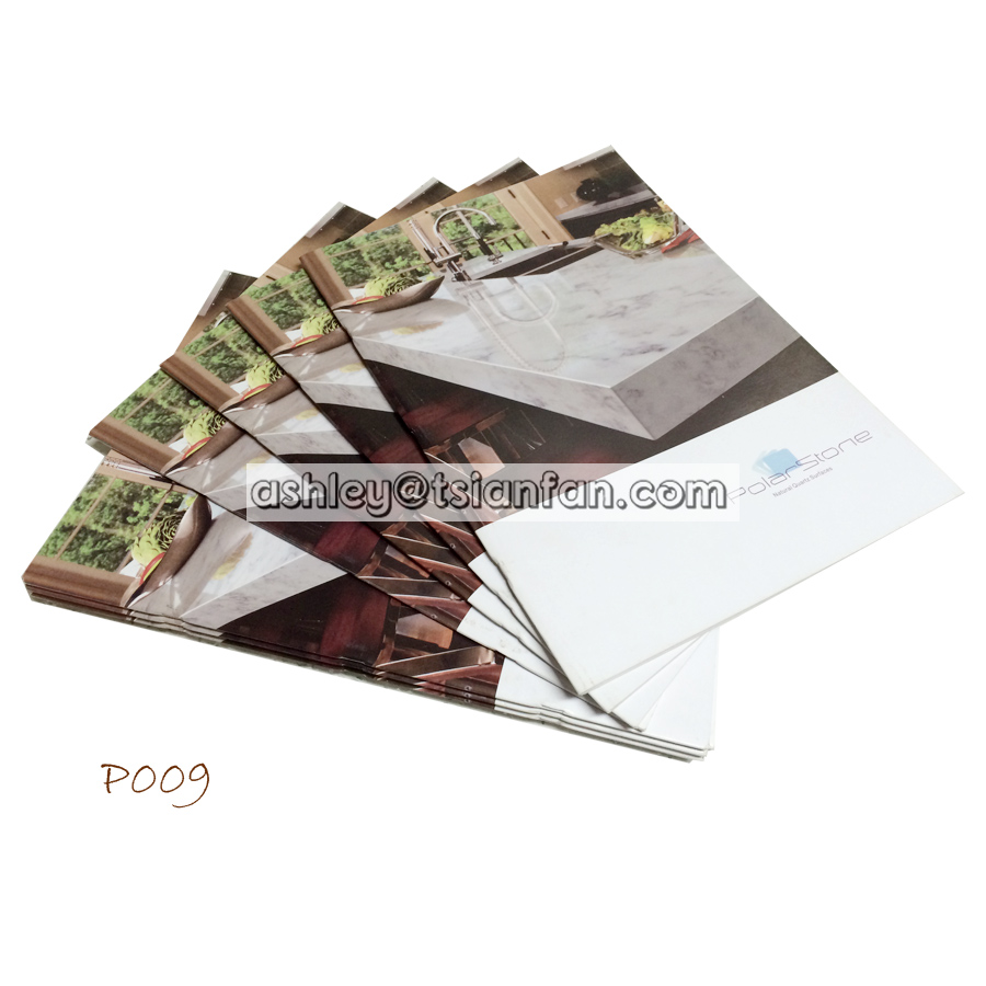 trade show company info printing paper book brochure/stone samples a4 advertising colorful brochures P009