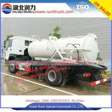 Sinotruk HOWO 10000L Vacuum Combination Sewer Cleaning Trucks with High Pressure Cleaning tank and Waste Water Suction Tanker