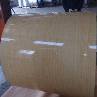 wood grain finish steel sheet for facade sandwich panel