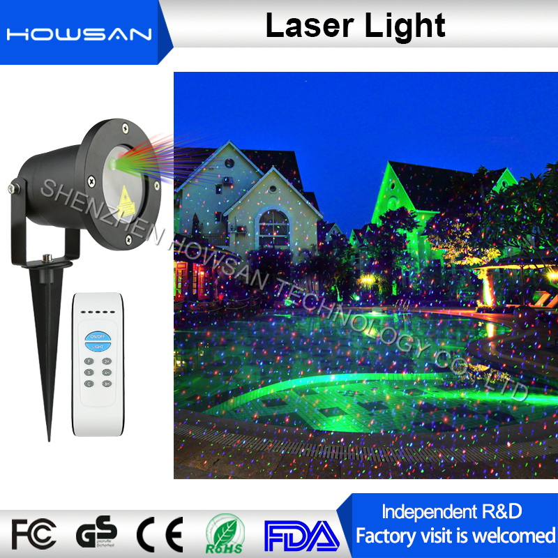 OEM designed 8 in 1 multi powerful RGB Mini laser light shower Outdoor christmas projector image