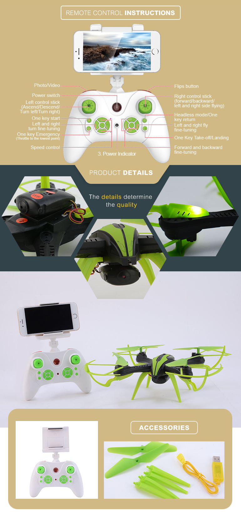 2.4g 6axis rc video wifi flying drone christmas toy with altitude hold mode