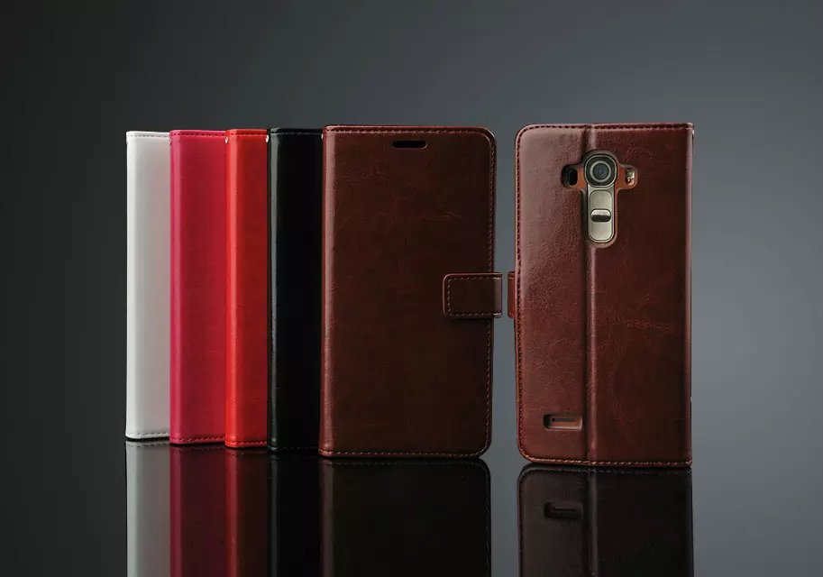 Luxury Business Style Stand Wallet Cases For LG G4 H818/ With Card Slot PU Leather Case