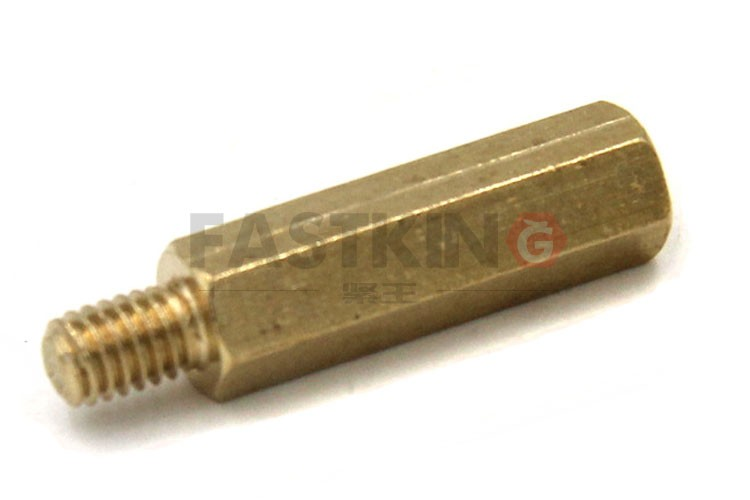 hexagonal threaded spacer made use brass