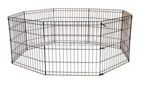 "24"" Puppy Dog Cat Playpen Crate Fence Pet Kennel Play Pen Exercise Cage -8 Pane"