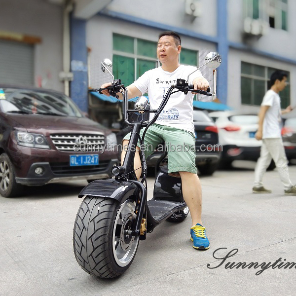 Sunnytimes 2017 New Citycoco Cheap Two Wheel Electric Chinese Motorcycle Brands 60V Lithium Battery