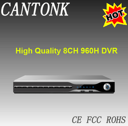 2014-2015 High Quality Real-time playback 8CH 960H DVR with VGA port Cantonk Top CCTV manufacturer from China