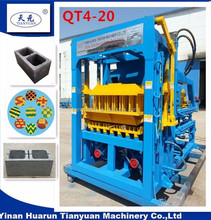 Widely used QTY4-20C concrete brick making machine nigeria