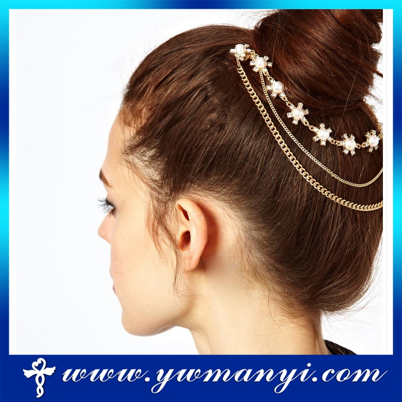 Top Design Crystal Jewelry fancy hair accessory bulk hair accessories H0019