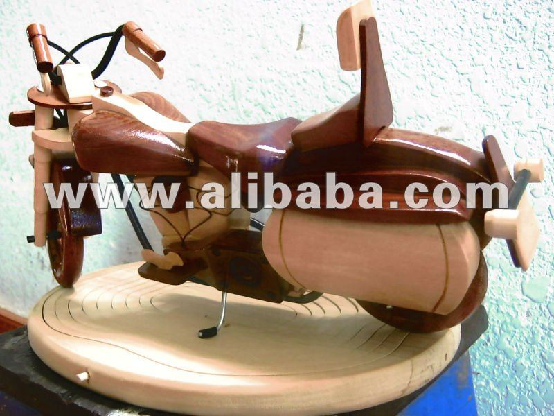 Wooden motorcyclre