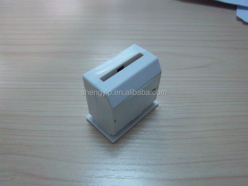 Custom simple piggy bank,white electricity saving box with musical toys for kids