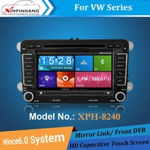 1080P HD Video car dvd player for VOLKSWGEN Golf/Polo/Sharan with BT, IPOD, TV, front DVR, DSP Audio, CD Copy
