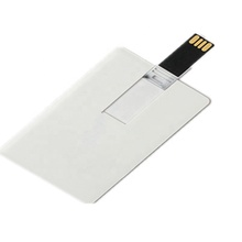 High quality blank usb stick 2gb,4gb,8gb,16gb /White business card usb <strong>flash</strong> drive promotional