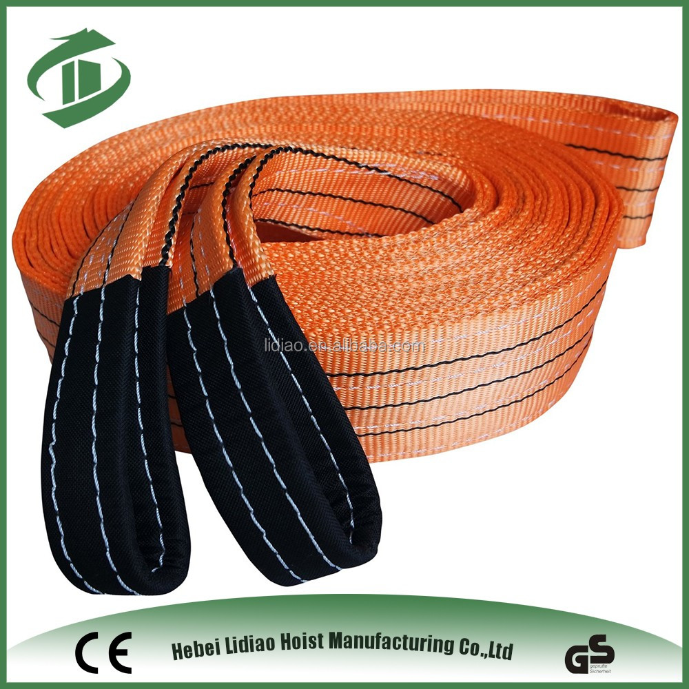 nylon webbing sling and round sling weight lifting belt