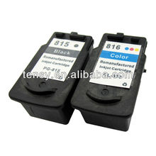 High quality remanufactured ink cartridge for Canon 815 816