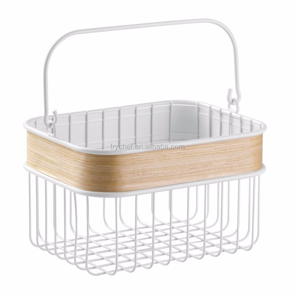 Home & Bathroom Metal Storage Hanging Basket /Wire Fruit Basket Powder Coating Finished