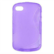 Brand new hot sale simple design S line TPU case for BlackBerry Q10 in guangzhou factory
