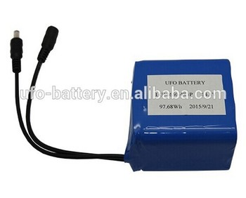 14.8v cylinder Lithium ion battery pack 18650-4S3P 9Ah with DC plug for christmas lights products
