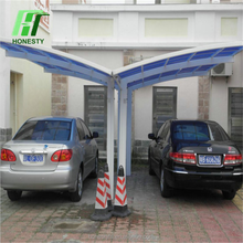 Lowes metal two cars rain shed shelter sun shade aluminum double used carports for sale from Honesty Group