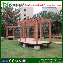 balcony pergola with eco-friendly wood-plastic composites wall cladding