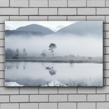 Winter landscape decoration wall spray paint dimmish paintings art on canvas linen