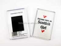 Photo Frame Clear Acrylic Fridge Magnet