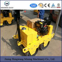 Hydraulic portable double drum walk behind mini small vibratory road roller