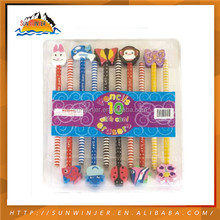 Design kawaii High Quality Hb color pencils and eraser set
