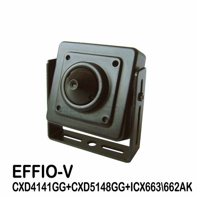 CCTV Surveillance 1/3 Sony CCD Effio-V 800TVL Super Real WDR 0.0003Lux Miniature Square Pinhole Mini CCD Camera With OSD