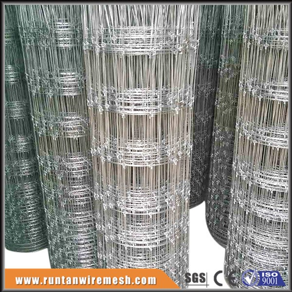 hot dip galvanized steel 7 feet or 8 foot tall deer wire fence