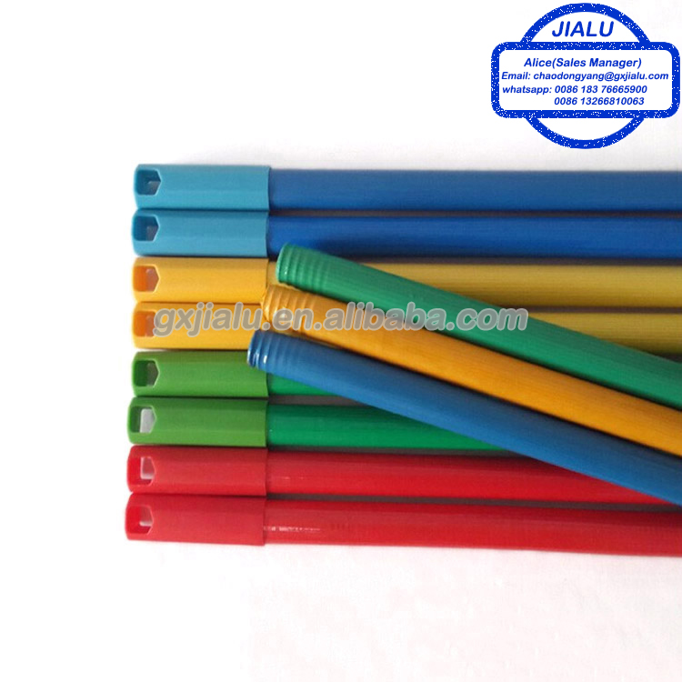120cm Eco-friendly PVC coated wooden handle for broom