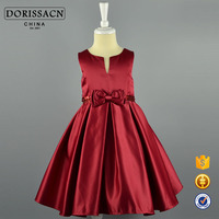 2016 red girl party dress for 7/8/10/12 years old kids wholesale girl party dress have OEM/ODM service