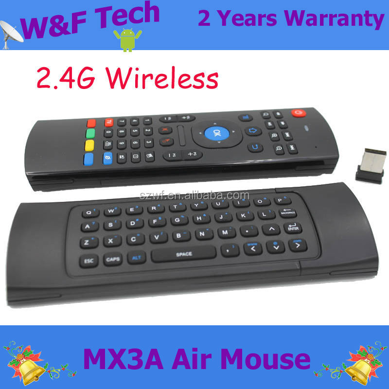 Wholesale 2.4GHZ Wireless mxiii air mouse for tv box